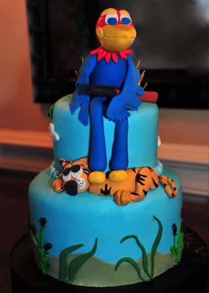 photo of groom's cake