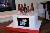 Jayhawk Beer Bottle Cake