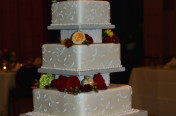Ivory square tiers
