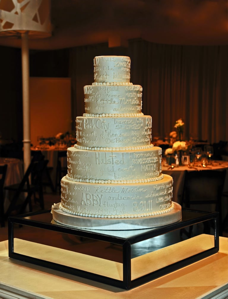 image of wedding cake with name wedding cake gallery take the cake 16319