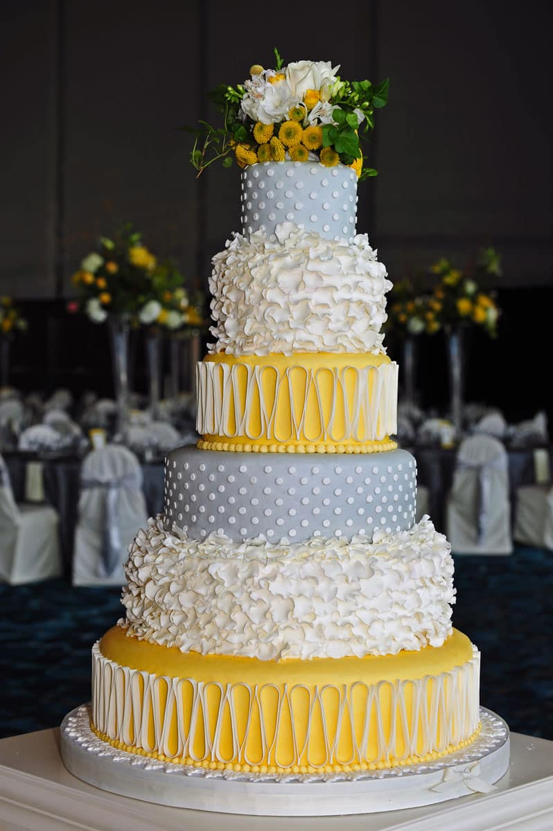 wedding cakes yellow and grey wedding cake gallery take the cake 26162