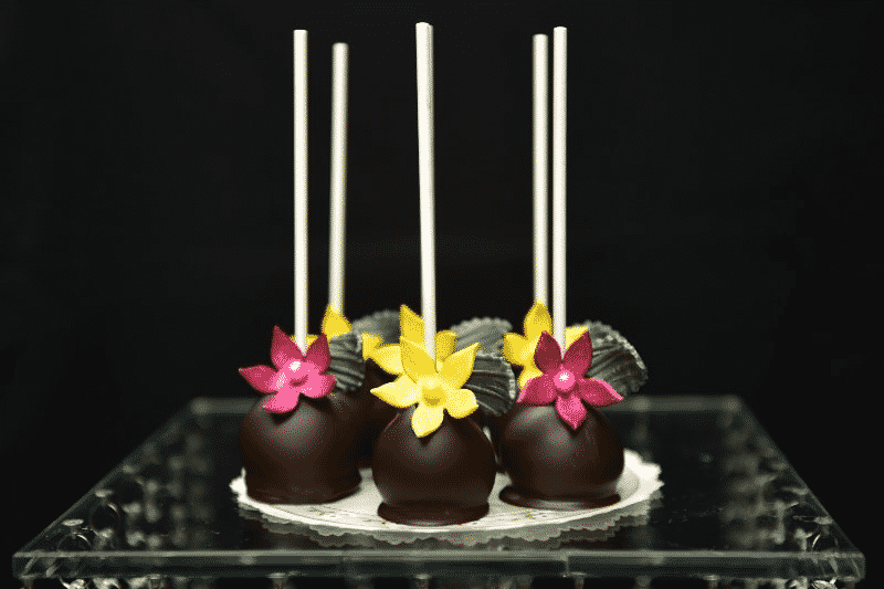 colorful flower cake pops